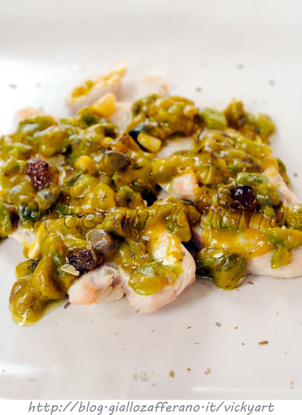 Pollo in salsa saracena ricetta siciliana veloce vickyart arte in cucina