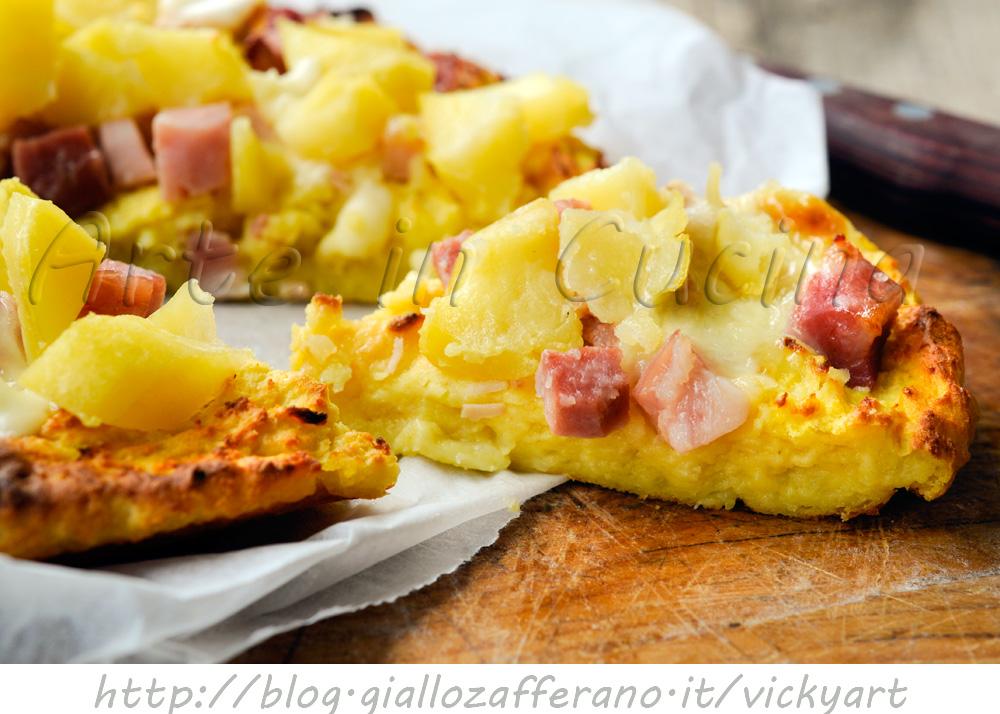 Sbriciolata di patate con salumi e formaggio vickyart arte in cucina