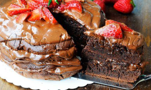 Torta brooklyn al cioccolato facile e veloce