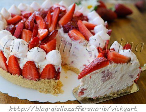Cheesecake alle fragole con mascarpone senza forno