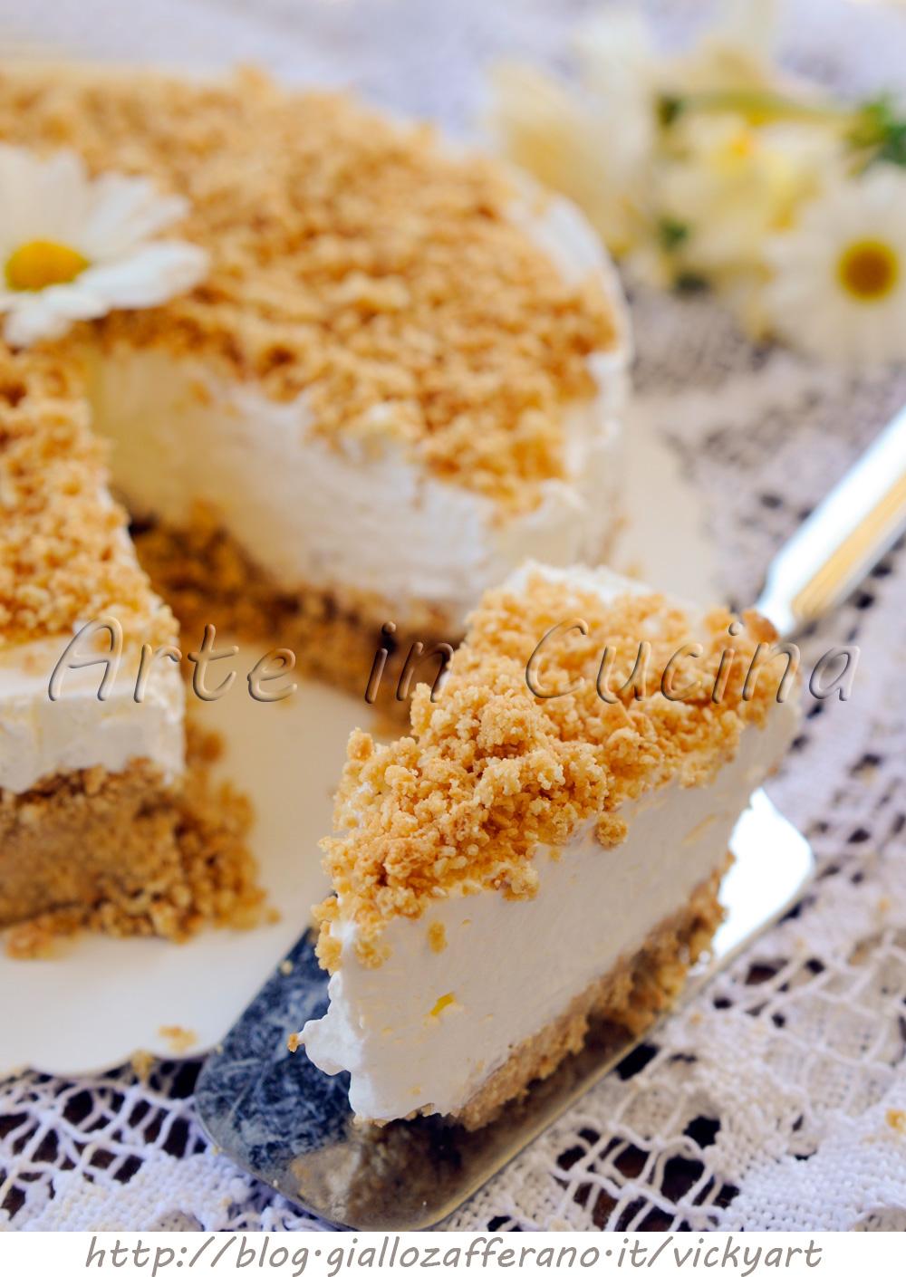 Estremamente Cheesecake paradiso sbriciolata torta fredda | Arte in Cucina SA08