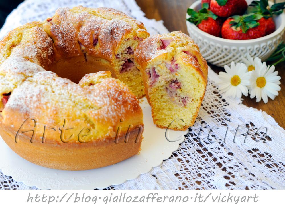 Ciambellone alle fragole e yogurt sofficissimo vickyart arte in cucina