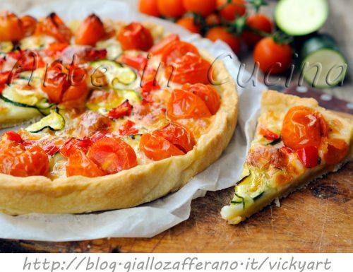 Crostata alle verdure con pasta brisè