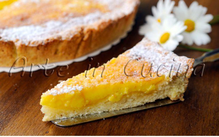 Custard pie crostata con crema alla vaniglia