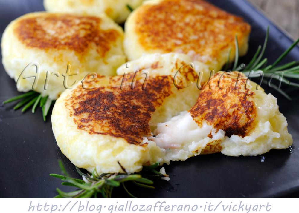 Focaccine di patate e ricotta ripiene sofficissime vickyart arte in cucina