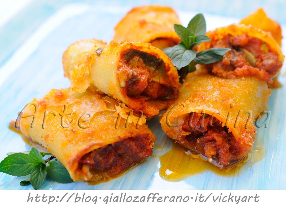 Paccheri gratinati ripieni con salsiccia e carciofi vickyart arte in cucina