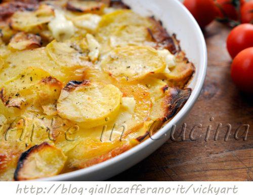 Patate e provola al forno saporite