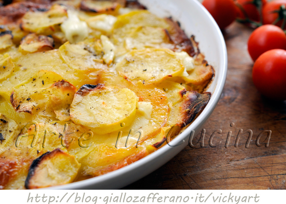 patate e provola al forno saporite vickyart arte in cucina