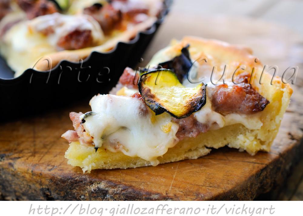 Rustico con salsiccia e zucchine senza sfoglia vickyart arte in cucina