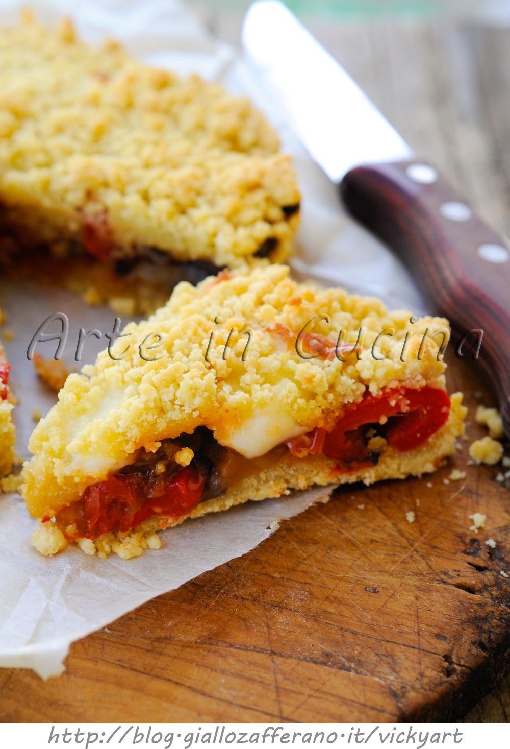 Sbriociolata di melanzane e peperoni torta salata  Arte in Cucina