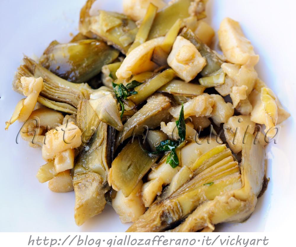 seppie con carciofi ricetta siciliana facile vickyart arte in cucina