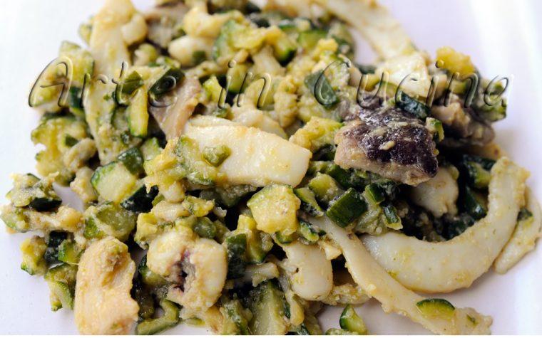 Seppie con zucchine e funghi ricetta facile