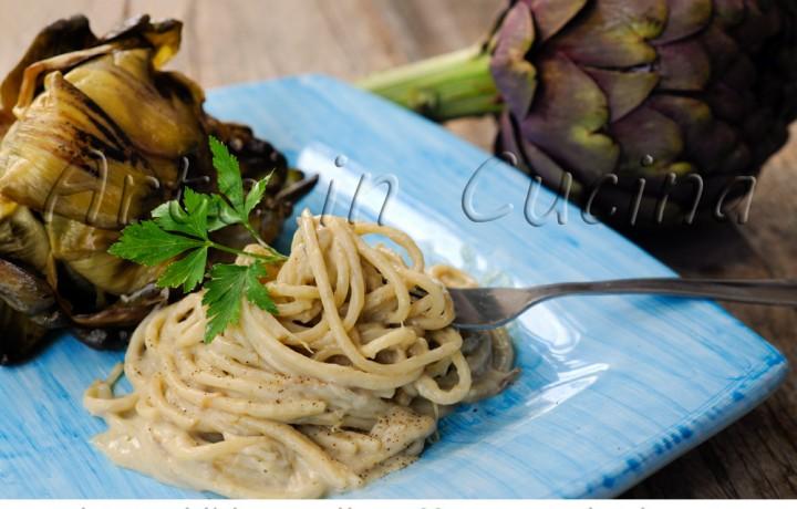 Spaghetti con carciofi alla giudia