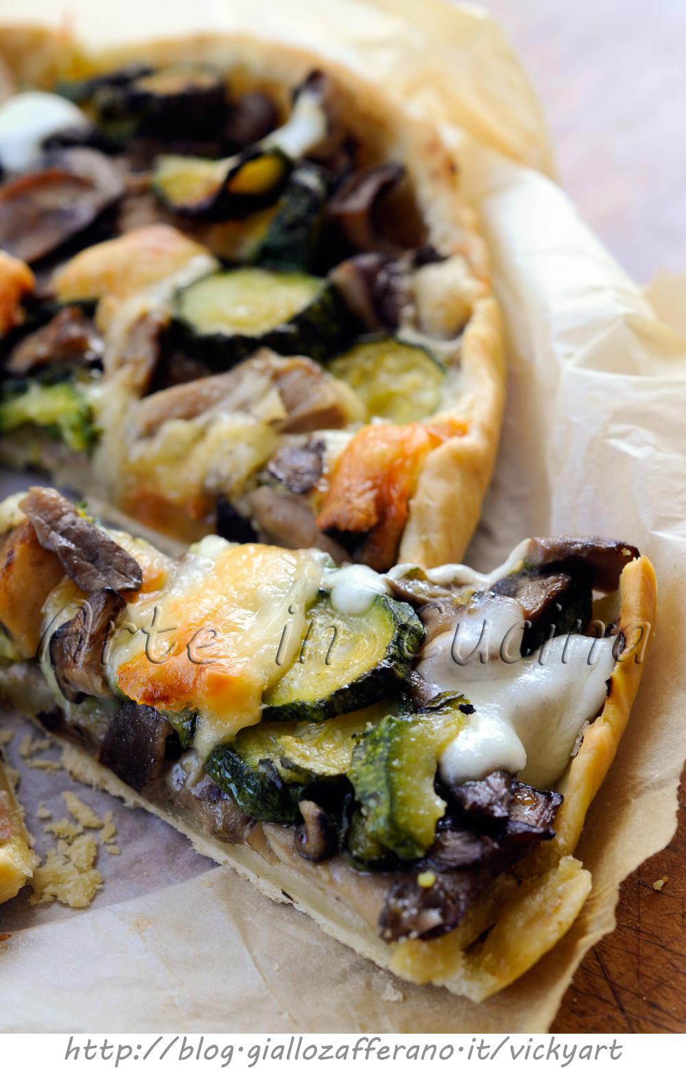 torta-salata-zucchine-funghi-scamorza-prosciutto-senza-uova-burro-2