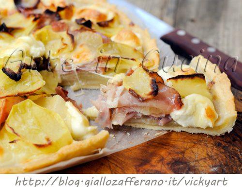 Torta veloce con patate e mozzarella
