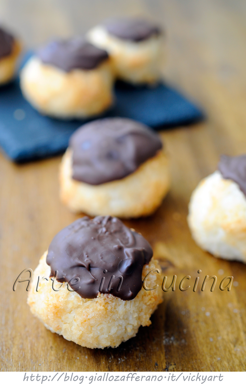 Dolcetti al cocco e cioccolato veloci vickyart arte in cucina
