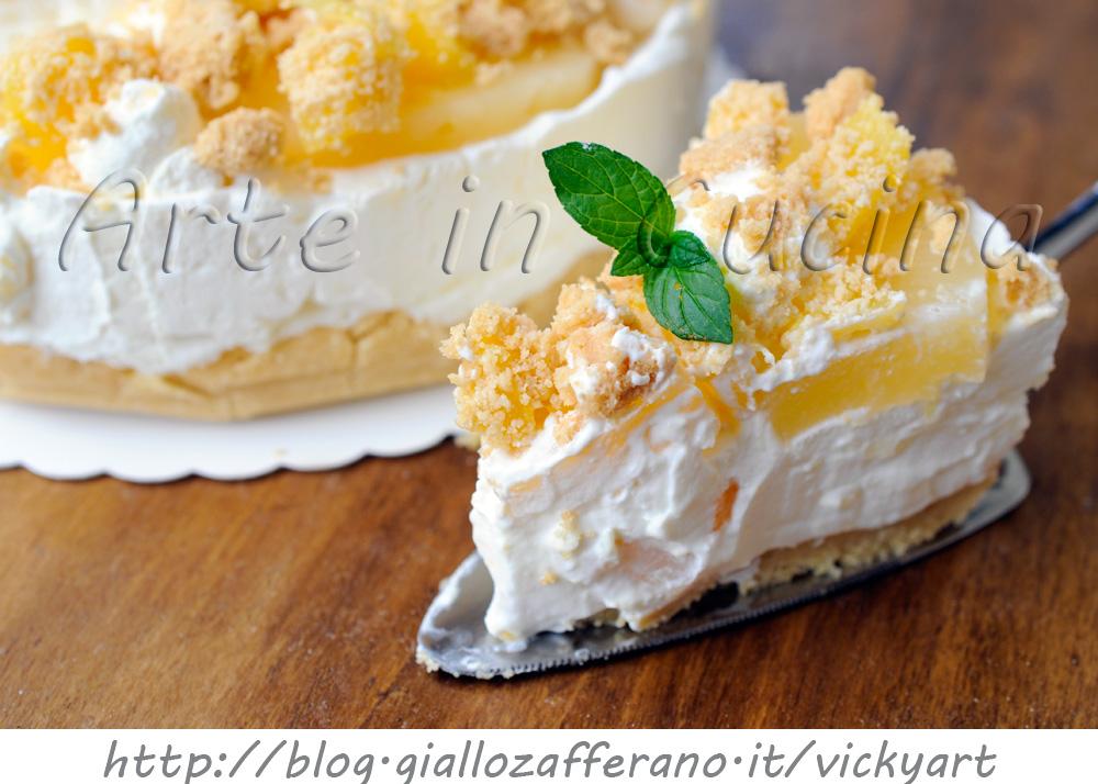 Cheesecake all 39 ananas con mascarpone e panna arte in cucina - Come sostituire la panna da cucina ...