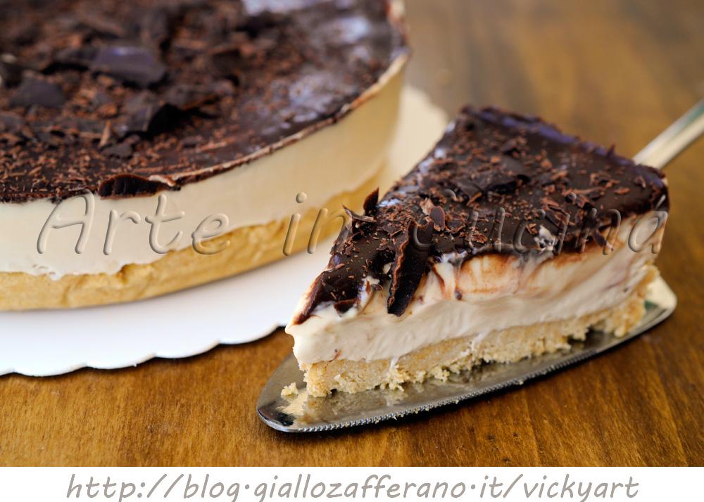 Cheesecake al caffe e cioccolato torta fredda