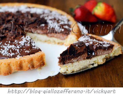 Crostata con crema al mascarpone cocco e cioccolato