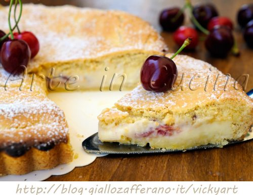 Crostata morbida alle ciliegie e mascarpone