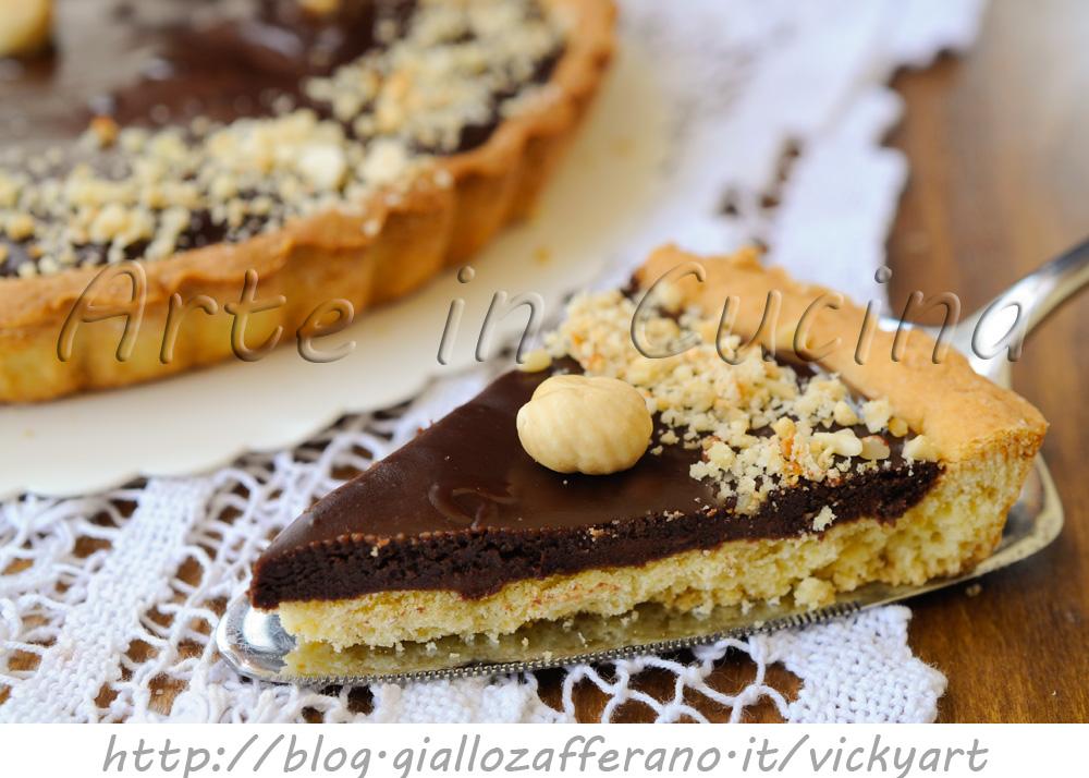 Crostata morbida alla nutella e cioccolato vickyart arte in cucina