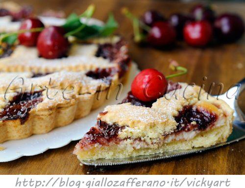 Crostata alla ricotta e marmellata di ciliegie