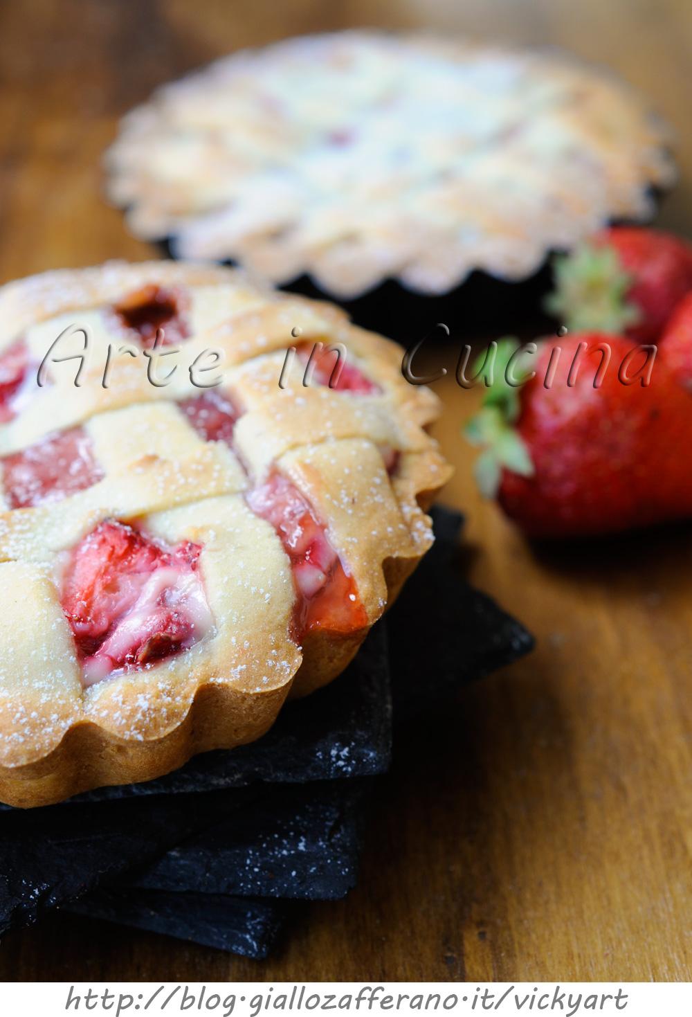Crostatine alle fragole e ricotta deliziose vickyart arte in cucina