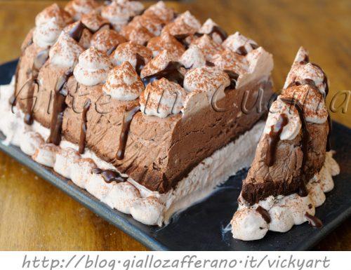 Mattonella gelato alla nutella e cioccolato