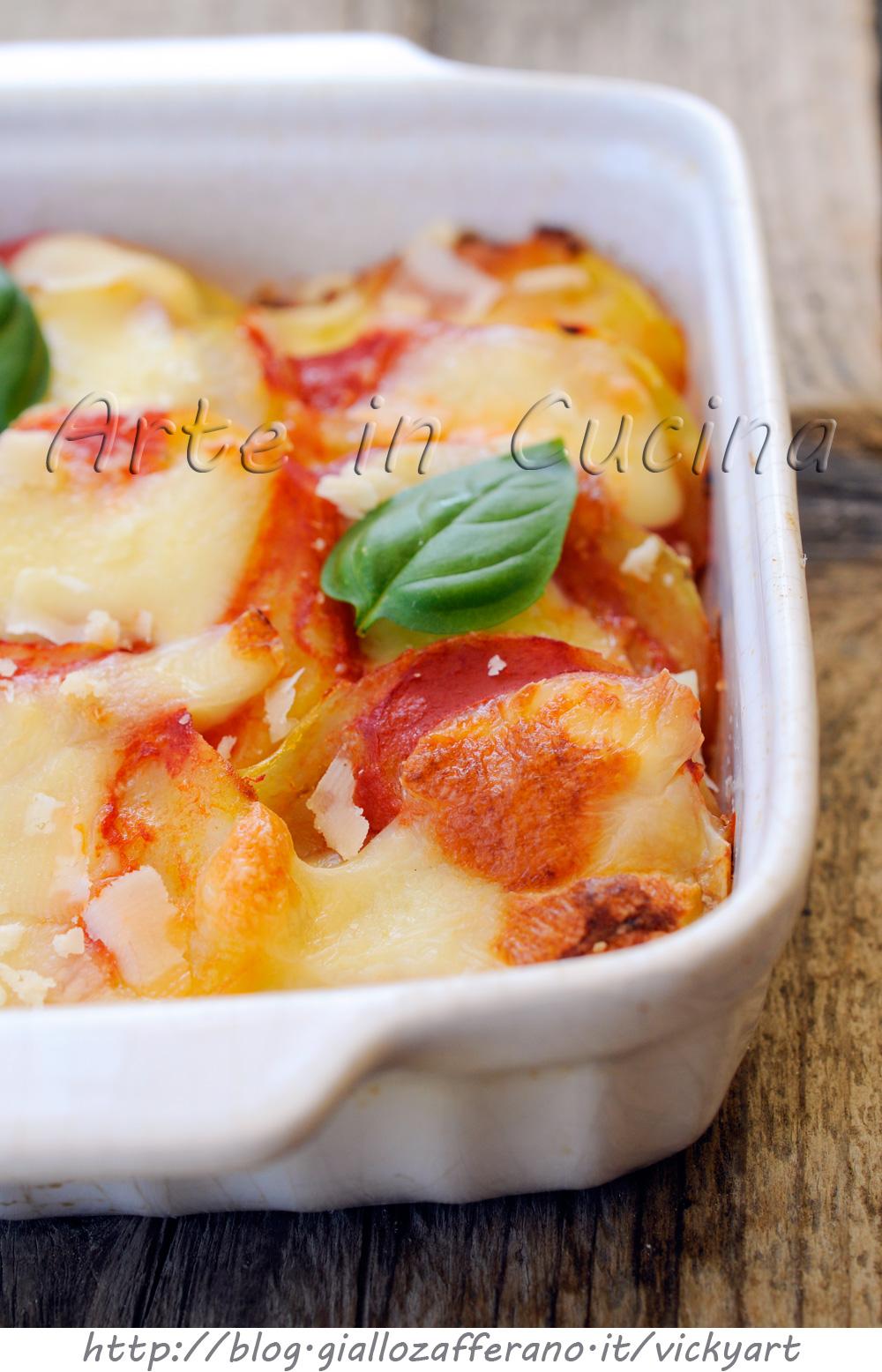 Patate con mozzarella e pomodoro al forno vickyart arte in cucina