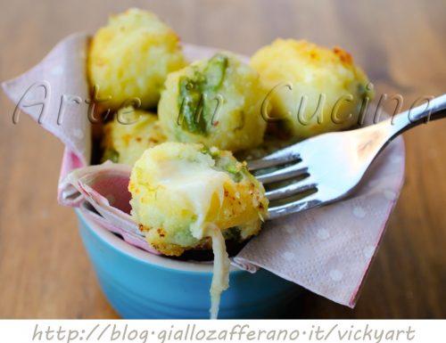 Polpette di patate e asparagi senza uova