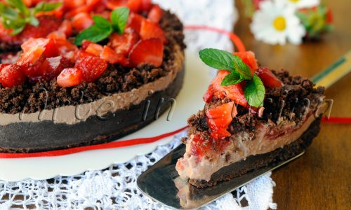 Sbriciolata al cioccolato mascarpone e fragole