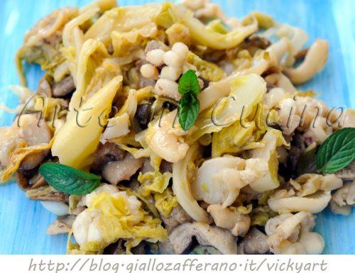 Seppie con verza e funghi ricetta leggera