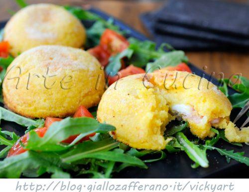 Sformato di patate mozzarella e prosciutto antipasto
