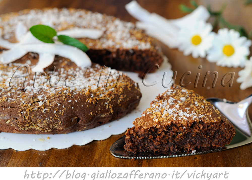 Torta caprese al cocco dolce veloce vickyart arte in cucina