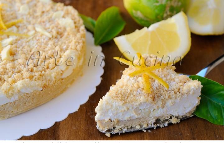Sbriciolata al cocco e limone con cioccolato bianco