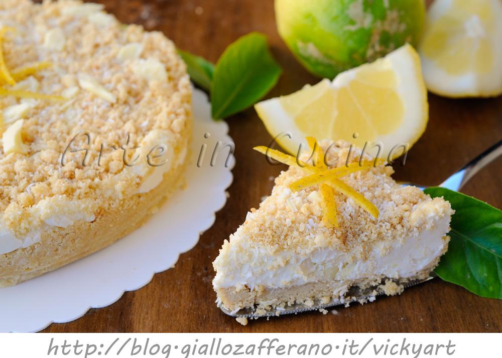 Favoloso Sbriciolata al cocco e limone con cioccolato bianco | Arte in Cucina EU56