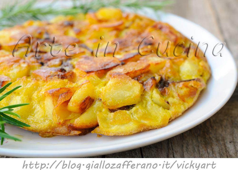 Ricetta Tortillas Patate E Cipolla.Tortilla Di Patate E Cipolle In Padella Veloce