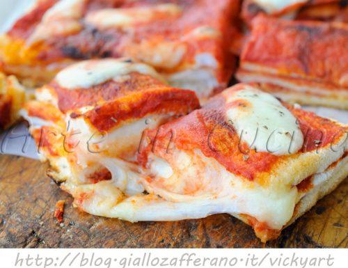 Tortino di pancarre gusto pizza veloce