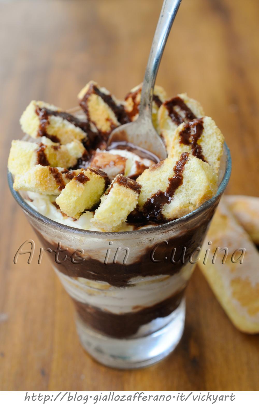 Coppa con biscotti mascarpone e nutella vickyart arte in cucina