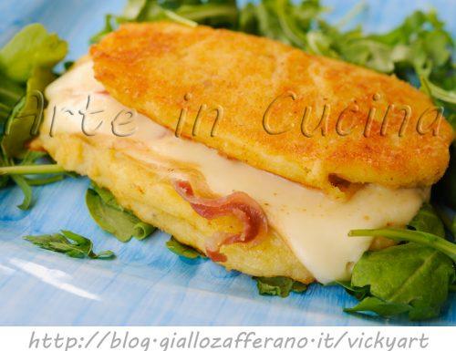 Cordon bleu di patate con provola e prosciutto