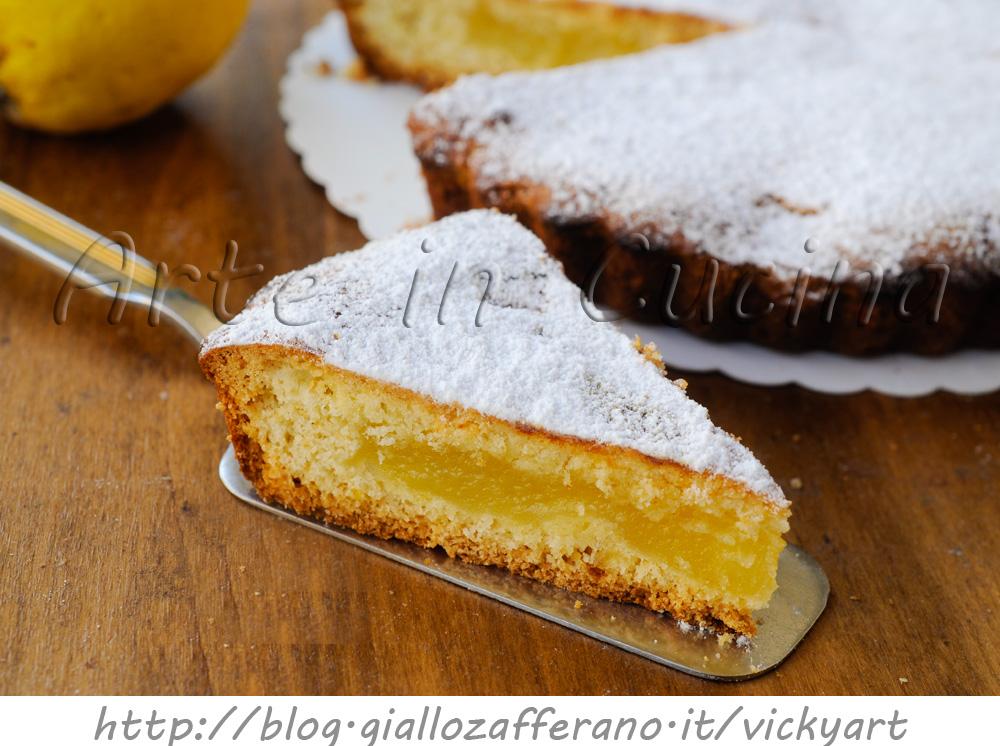 Crostata morbida di limoni ricetta facile vickyart arte in cucina