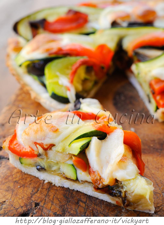Crostata di pancarre con verdure miste grigliate vickyart arte in cucina