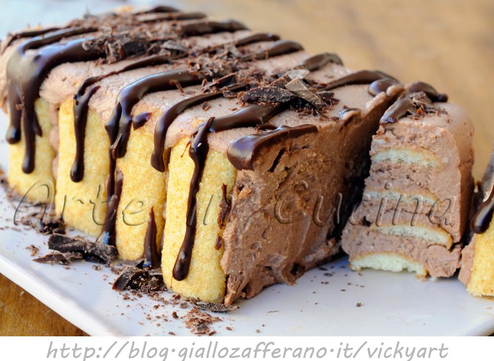 Mattonella di pavesini al cioccolato e mascarpone vickyart arte in cucina