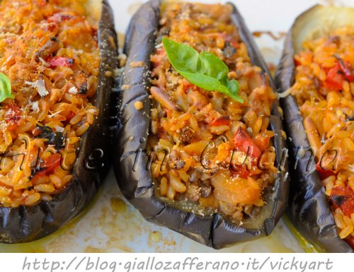 Melanzane ripiene stufate ricetta light facile