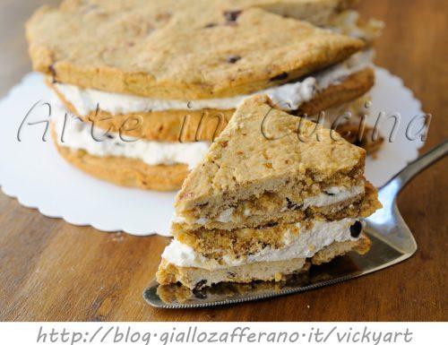 Millefoglie di cookie torta panna e cioccolato