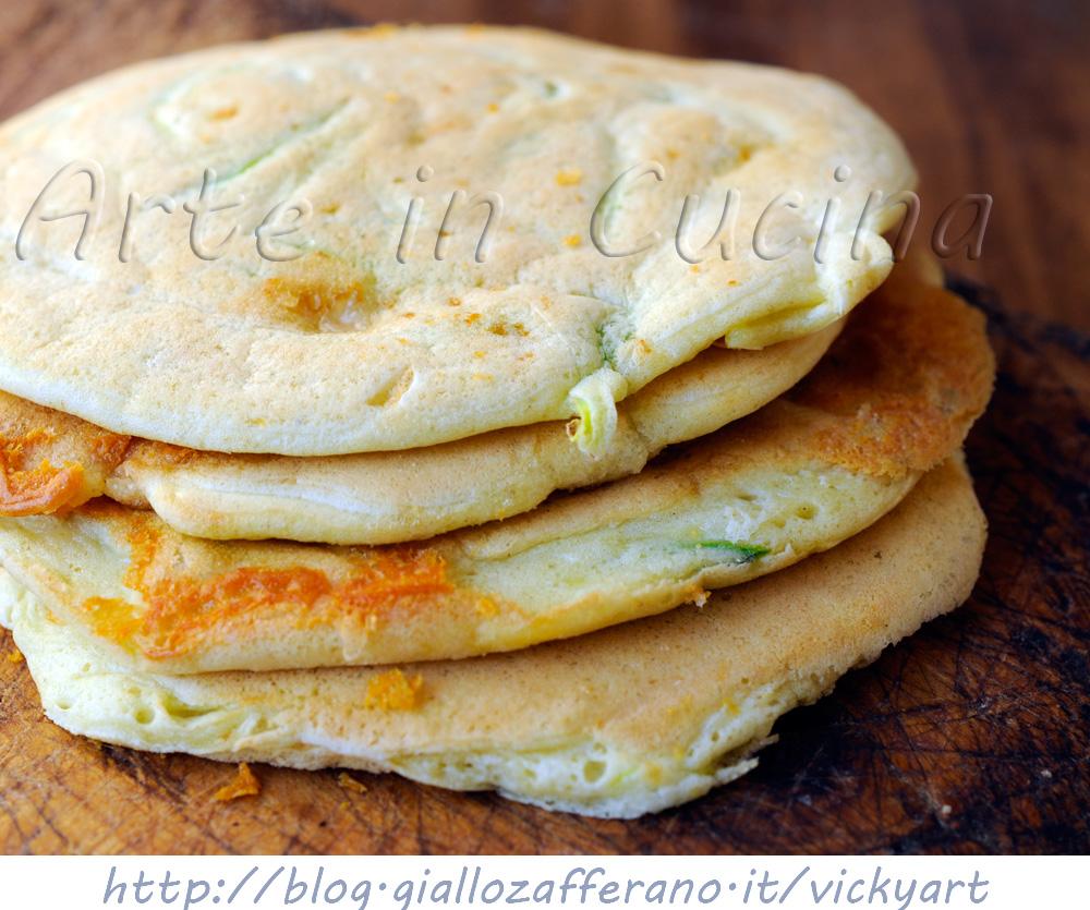 Pancake con gorgonzola e zucchine finger food vickyart arte in cucina