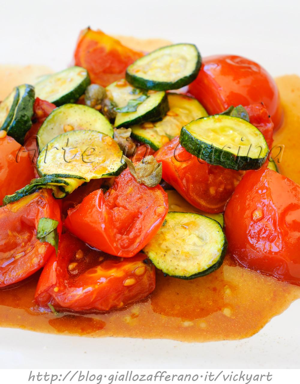 Pomodori grigliati e zucchine all'insalata veloce e light vickyart arte in cucina