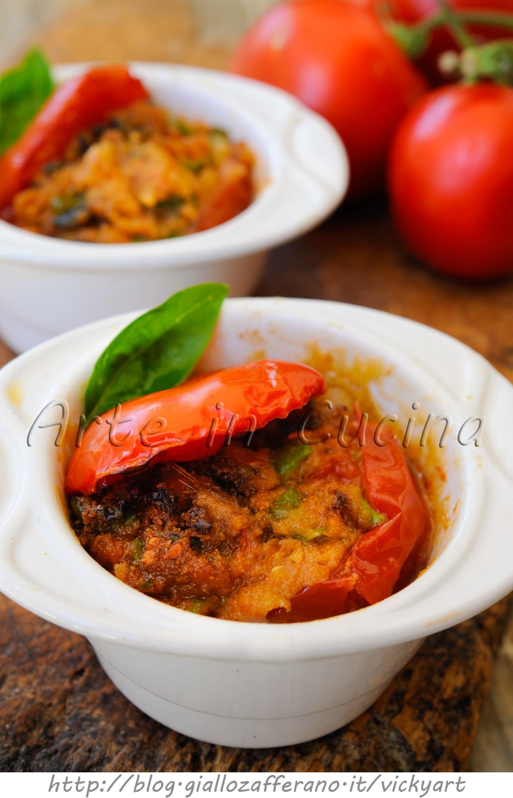 Pomodori sfiziosi ripieni alla palermitana vickyart arte in cucina