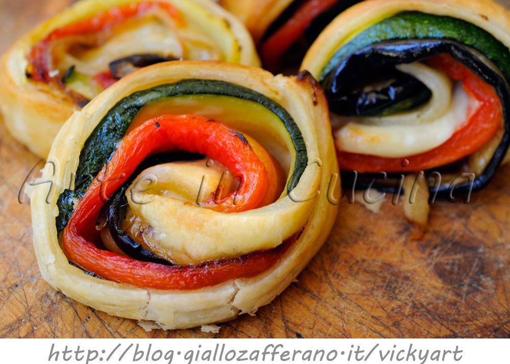 Rotolini di sfoglia con verdure grigliate finger food vickyart arte in cucina