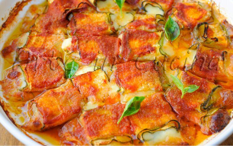 Rotolini di zucchine sfiziosi veloci in padella o forno